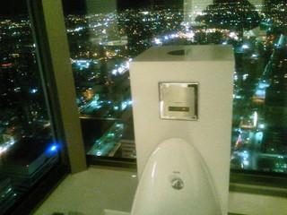 同じ階にある男子トイレ小用個室からの展望