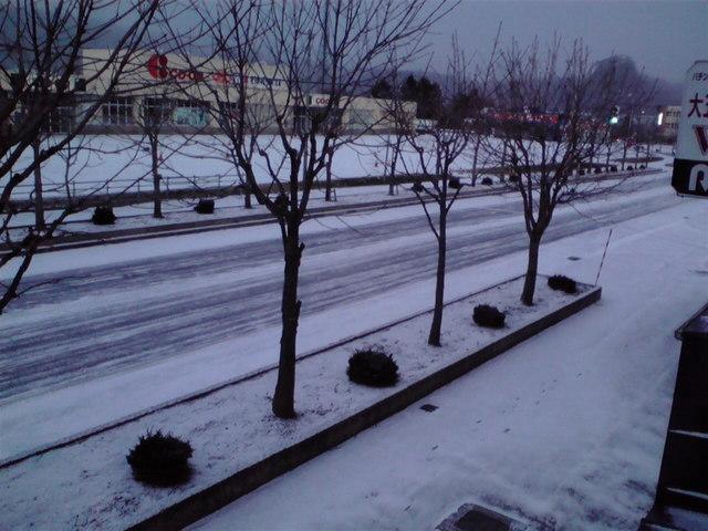 早朝の雪景色 2